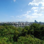 the view from the ruin of Sendai castle