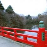 A bridge of Takaoka castle ruins