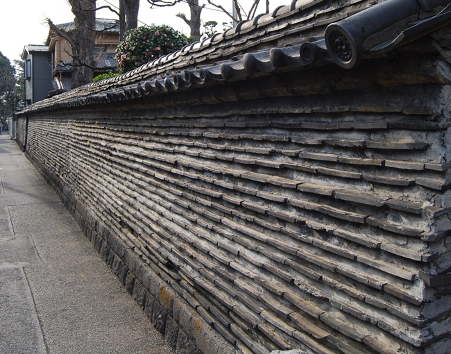 the old wall at Yanaka