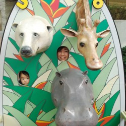Face-in-the-hole board : Ueno Zoo